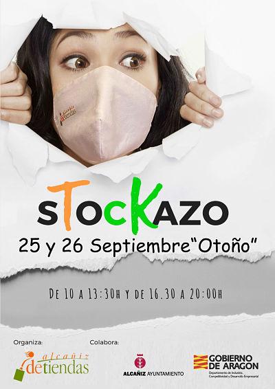 Cartel Stockazo Alcañiz deTiendas